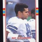 1989 Topps Football #391 Ray Alexander - Dallas Cowboys