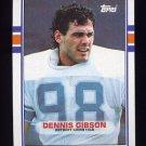 1989 Topps Football #370 Dennis Gibson - Detroit Lions