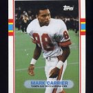 1989 Topps Football #331 Mark Carrier RC - Tampa Bay Buccaneers