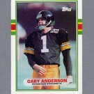 1989 Topps Football #324 Gary Anderson - Pittsburgh Steelers ExMt