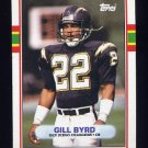 1989 Topps Football #307 Gill Byrd - San Diego Chargers