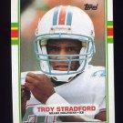 1989 Topps Football #292 Troy Stradford - Miami Dolphins