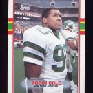 1989 Topps Football #231 Robin Cole - New York Jets