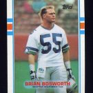 1989 Topps Football #192 Brian Bosworth - Seattle Seahawks