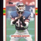 1989 Topps Football #174 Stephen Baker RC - New York Giants NM-M