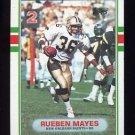1989 Topps Football #160 Rueben Mayes - New Orleans Saints