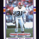 1989 Topps Football #139 Frank Minnifield - Cleveland Browns