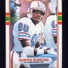 1989 Topps Football #092 Curtis Duncan - Houston Oilers