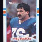 1989 Topps Football #050 Fred Smerlas - Buffalo Bills