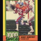 1990 Topps Football 1000 Yard Club #17 Bobby Humphrey - Denver Broncos