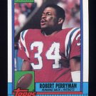 1990 Topps Football #420 Robert Perryman - New England Patriots