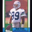 1990 Topps Football #337 Brian Blades - Seattle Seahawks