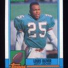1990 Topps Football #318 Louis Oliver - Miami Dolphins