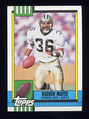 1990 Topps Football #244 Rueben Mayes - New Orleans Saints