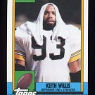 1990 Topps Football #190 Keith Willis - Pittsburgh Steelers