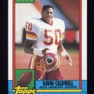 1990 Topps Football #131 Ravin Caldwell - Washington Redskins