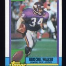 1990 Topps Football #105 Herschel Walker - Minnesota Vikings