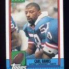1990 Topps Football #053 Carl Banks - New York Giants