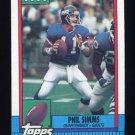 1990 Topps Football #051 Phil Simms - New York Giants