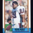 1990 Topps Football #047 Orson Mobley RC - Denver Broncos