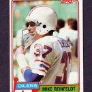 1981 Topps Football #491 Mike Reinfeldt - Houston Oilers