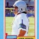 1981 Topps Football #469 Efren Herrera - Seattle Seahawks