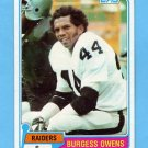 1981 Topps Football #429 Burgess Owens - Oakland Raiders