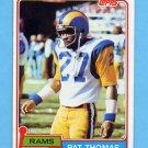 1981 Topps Football #423 Pat Thomas RC - Los Angeles Rams