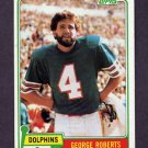 1981 Topps Football #421 George Roberts - Miami Dolphins