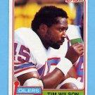 1981 Topps Football #378 Tim Wilson - Houston Oilers