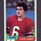 1981 Topps Football #367 John James - Atlanta Falcons