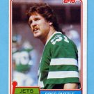 1981 Topps Football #285 Greg Buttle - New York Jets