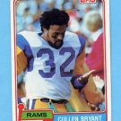 1981 Topps Football #273 Cullen Bryant - Los Angeles Rams