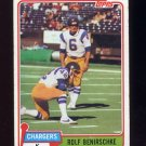 1981 Topps Football #242 Rolf Benirschke - San Diego Chargers G