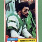 1981 Topps Football #179 Herman Edwards - Philadelphia Eagles VgEx
