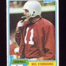 1981 Topps Football #096 Neil O'Donoghue - St. Louis Cardinals