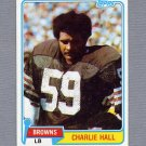 1981 Topps Football #089 Charlie Hall - Cleveland Browns VgEx