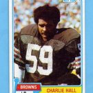 1981 Topps Football #089 Charlie Hall - Cleveland Browns Vg