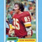 1981 Topps Football #084 Don Warren - Washington Redskins