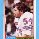 1981 Topps Football #079 Gregg Bingham - Houston Oilers