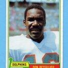 1981 Topps Football #063 Don Bessillieu - Miami Dolphins
