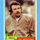 1981 Topps Football #036 Ray Wersching - San Francisco 49ers