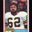 1981 Topps Football #026 John Hill - New Orleans Saints