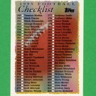1995 Topps Football #467 Checklist 249-358