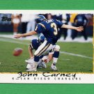 1995 Topps Football #061 John Carney - San Diego Chargers