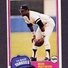 1981 Topps Baseball #690 Bob Watson - New York Yankees Vg