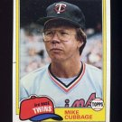 1981 Topps Baseball #657 Mike Cubbage - Minnesota Twins G