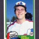 1981 Topps Baseball #607 Dave Palmer - Montreal Expos