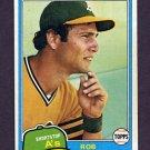 1981 Topps Baseball #604 Rob Picciolo - Oakland A's