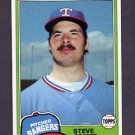1981 Topps Baseball #592 Steve Comer - Texas Rangers